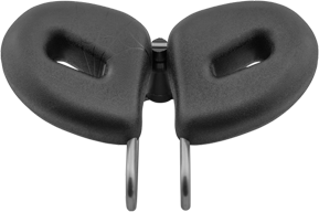 Top view of the Spiderflex Bike seat shows the split horneless bike seat design with cutouts