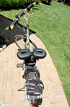 Giant Sedona DS Bicycle-Back top view with Spiderflex Saddle-Alfredo
