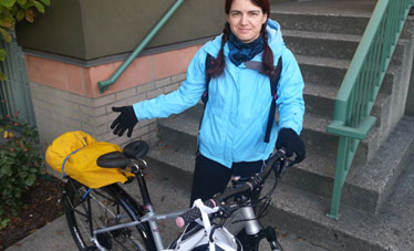 Female Cyclist-Interstitial Cystitis-Spiderflex seat-Hornless Saddle-Vancouver-BC-Isabelle