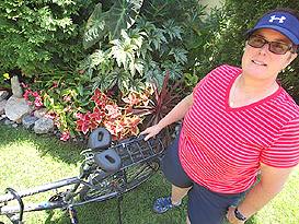 Lena and her bike with Spiderflex - Comfortable Bicycle Saddle