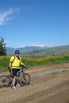 Andreas using her Mountain bike and Spideflex seat in her healthy lifestyle Journey - Canary Islands - Spain