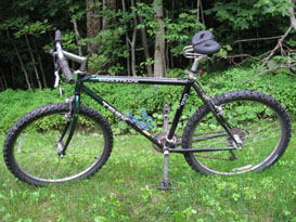 Eric's mountain bike with a spiderflex seat installed.  He is riding again and painfree - Eric