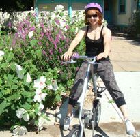 Cheryl's Folding Bicycle with a Spiderflex Saddle