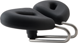 Comfortable hornless Bicycle Saddle that is well designed for proper weight distribution
