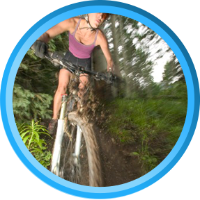 Women Cyclist on Mountain bike - off road-Spiderflex-Bicycle Seat