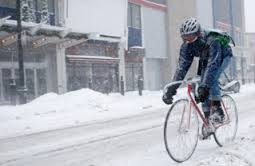 Winter cycling in the cit